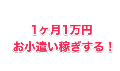 1ヶ月1万円