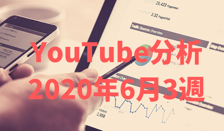 YouTube初心者のチャンネル登録者数推移とデータ週間分析(2020年6月24日)