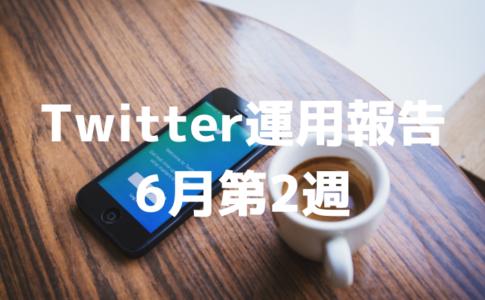 Twitter初心者のフォロワー推移・データ報告(6月2週)
